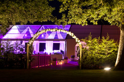 Evening shot of marquee