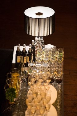 Bar at corporate drinks reception
