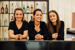 Girls on the bar at Robbies Rugby