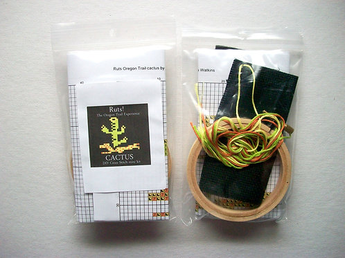 Cactus: Ruts! DIY Cross Stitch Mini Kit