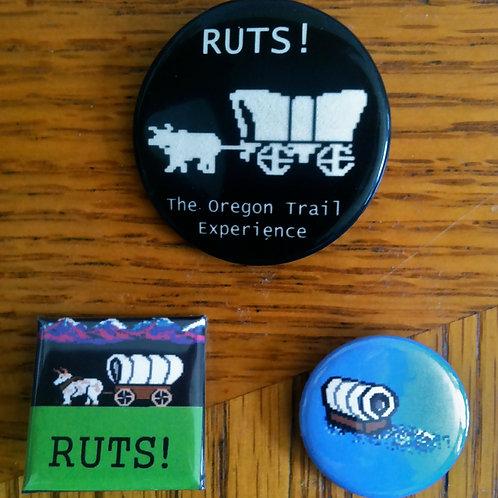Ruts! Oregon Trail Buttons - Set of 3