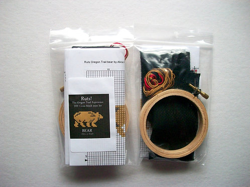 Bear (Alive or Dead): Ruts! DIY Cross Stitch Mini