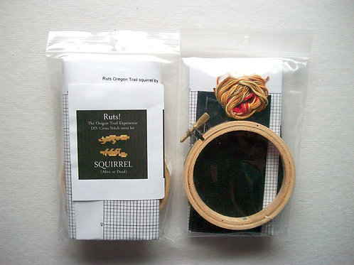 Squirrel(Alive or Dead):Ruts! DIY CrossStitch Mini