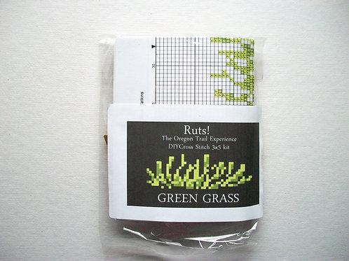 Green Grass: Ruts! DIY 3x5 Cross Stitch Kit