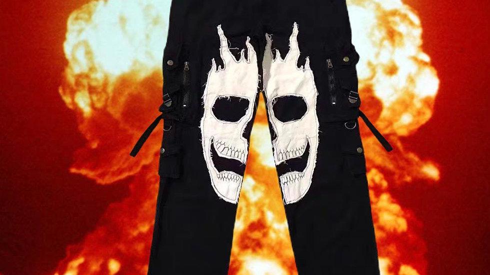 1of1 Custom Skull Jeans Remake