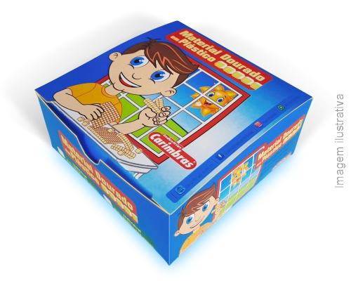 material-dourado-plastico-caixa-papelao-