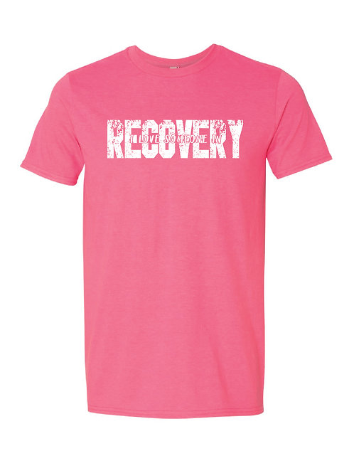 I Love Someone In Recovery - UNISEX Cotton Poly Blend T-Shirt