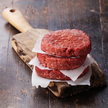 Raw Ground beef meat Burger steak cutlet