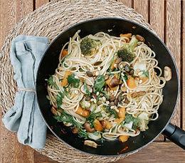 Herbstliche Spaghettipfanne