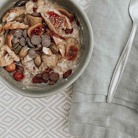 Feigen-Schoko-Porridge