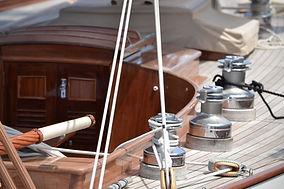 cubierta del barco de vela