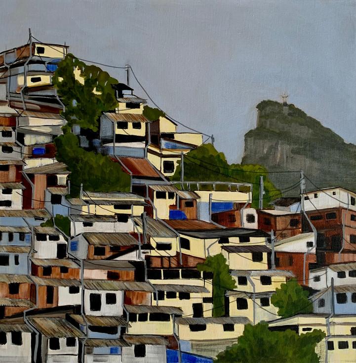 Favelas 3, (Christ the Redeemer) Rio de Janeiro