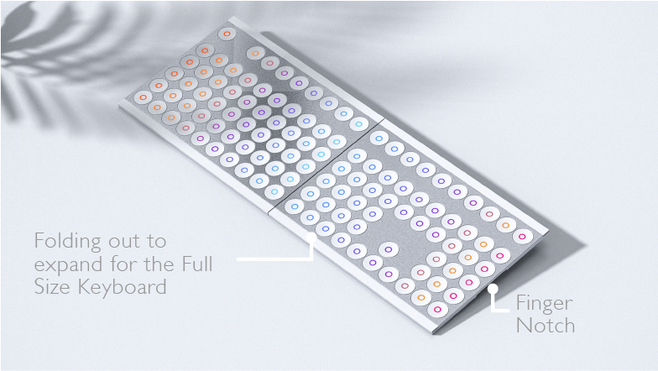 Foldable Keyboard Puzzle