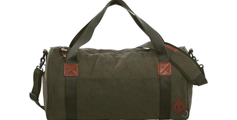 Basic Cotton Barrel Duffel Bag