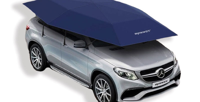 Car Tent Four-Season Semi-Automatic Cover - Small (4.2m) Car Umbrella