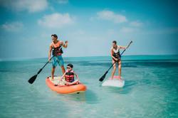 Club Med Kabira Beach paddle boards