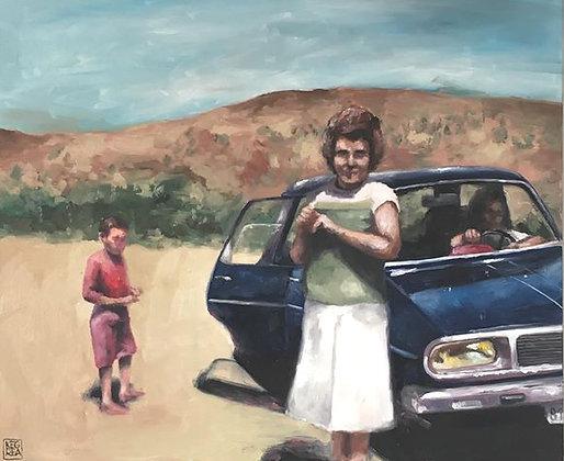 KEGREA, La pause, 61 x 50 cm