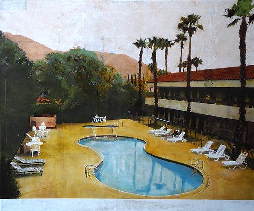 Ayline Olukman, Palm Spring Poolside , 100 x 120 cm