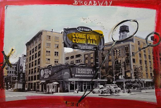 Philippe Roussel - Broadway - 60 x 90 cm