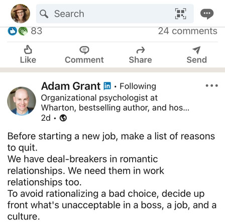 Is Job Searching like Dating?