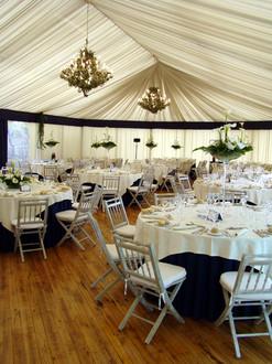 Tent rental micro wedding
