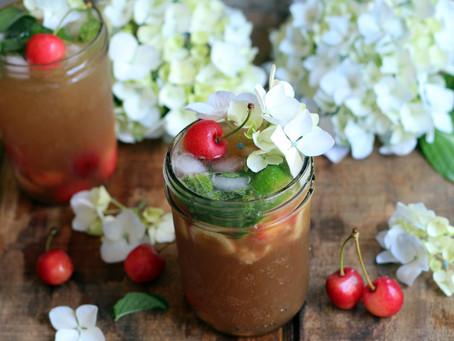 Balsamic Cherry Compote Mojito