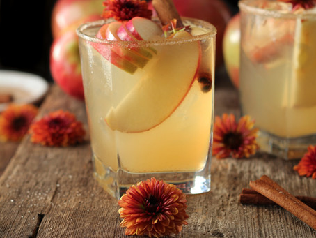 mulled apple cider mule