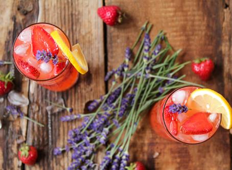 strawberry lavender summer spritzer