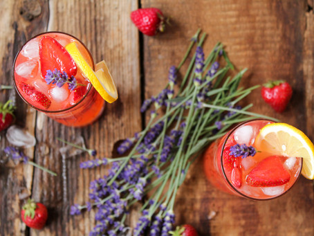 strawberry lavender summer spritzer