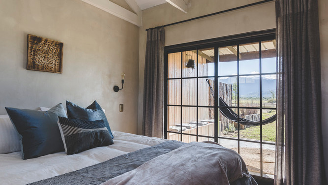 Farmstead bedroom with a view