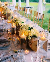 log centerpiece on long table.jpg