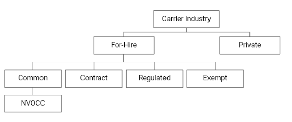 Different types of Carrier