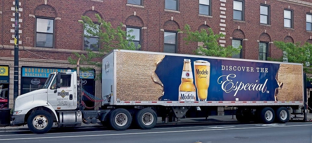 Transporting beer by truck