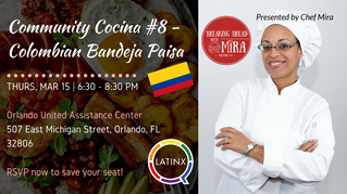 Community Cocina: Colombian Bandeja Paisa