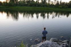 Fishing at the river