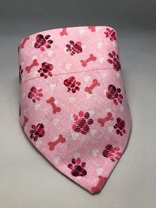 Pink Plaid Paw Bandana