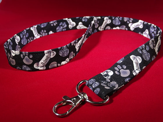 Black and White Bone Lanyard