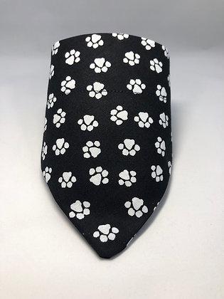 Black and White Paw Bandana
