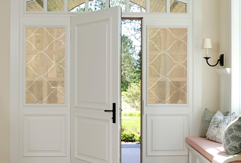 SHAADS Door Covers shown in Oak
