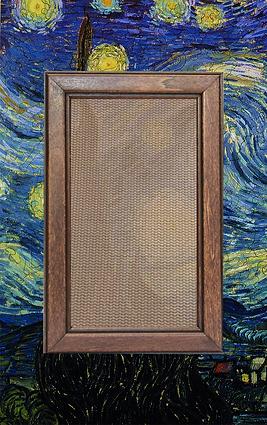 Walnut Frame Bronze Fabric Net.png