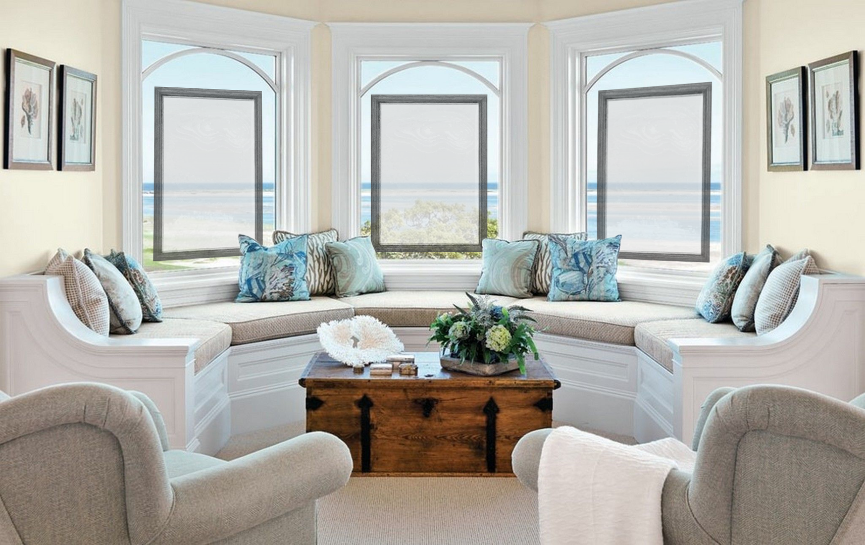 Window Treatments for Coastal View Room