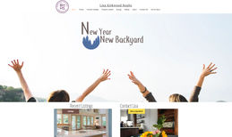 Lisa Kirkwood Realty Beautiful elegant and modern website featuring int...