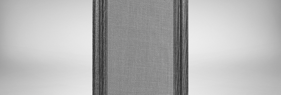 Black Espresso Stained Oak Wood Frame with Customizable Fabric