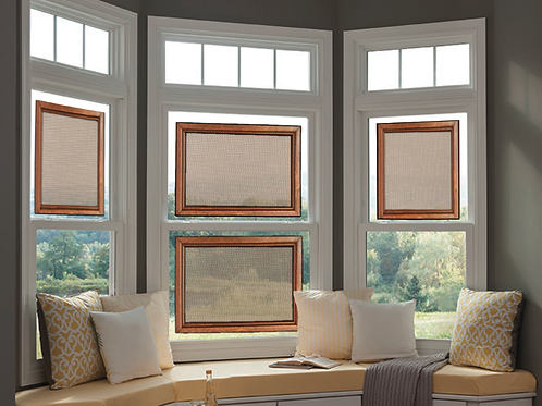 STANDARD SIZE PECAN STAINED FRAMES