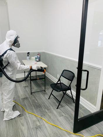 technician fogging room