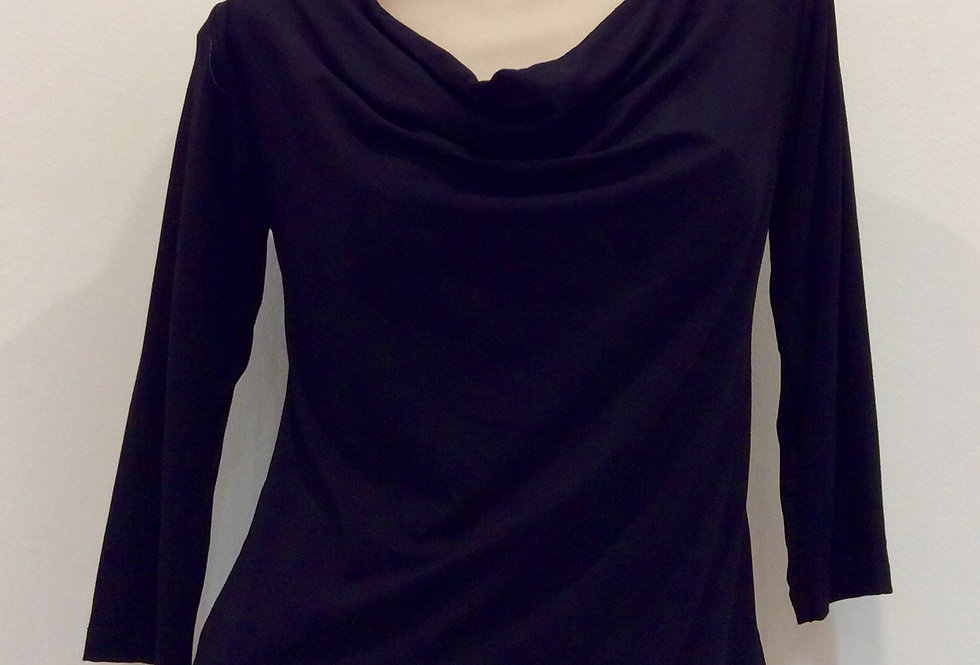 Bamboo Cowl Neck Top - 3/4 sleeve