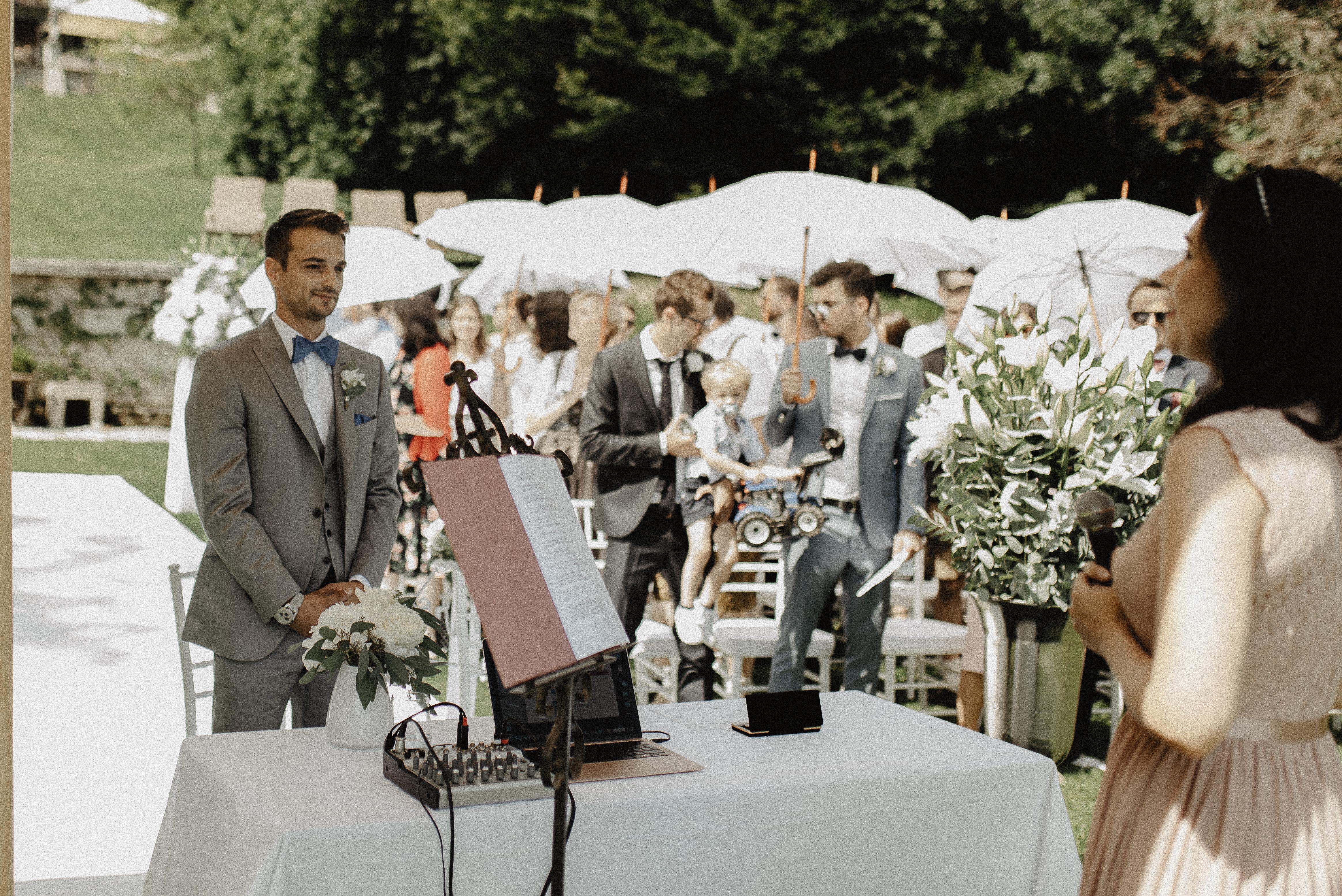 Warten auf die Braut...