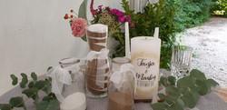 Sandzeremonie, Hochzeitskerze und Trauurkunde