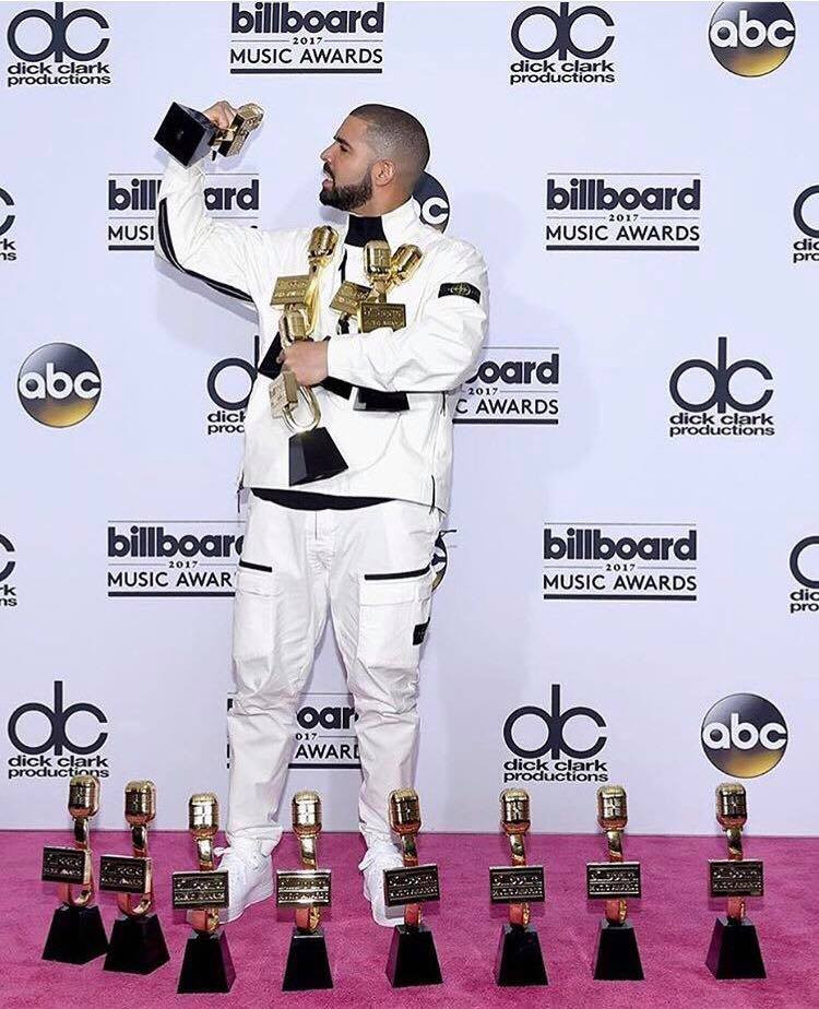 Drake with all 13 of his Billboard Awards