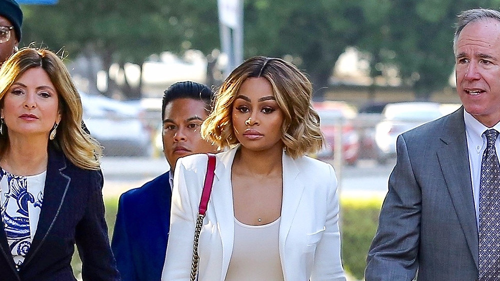 Blac Chyna leaving court